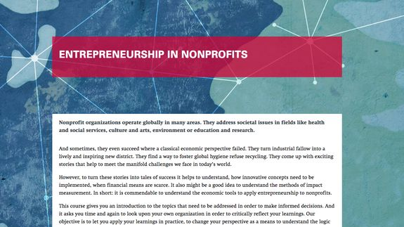 Entrepreneurship in Nonprofits